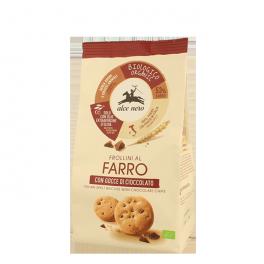 Biscuits Frollini à la farine d'épeautre et pépites de chocolat