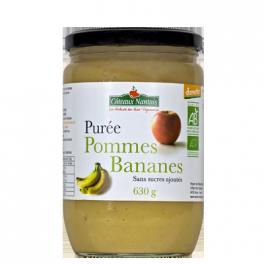 Purée de pommes bananes