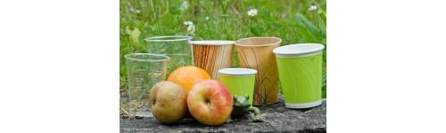 Les verres jetables biodégradables